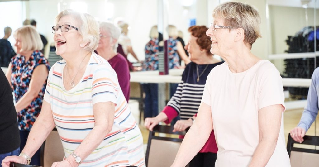 Older adult strength and balance class